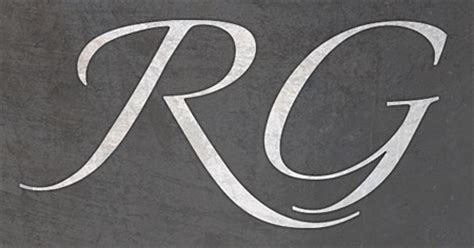 rg designs customizing type for a logo treatment