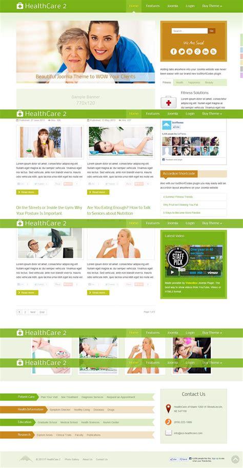 it healthcare 2 responsive joomla template for health