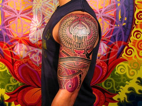Egyptian Tattoos 20 Awesome Egyptian Designs Colorful Cool Arm New Pattern For 2011 12