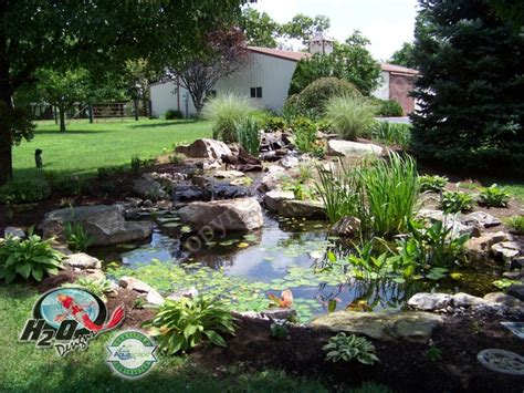 Backyard Pond Landscaping Ideas Koi Pond Backyard Pond Small Pond Ideas For Your Kentucky Landscape Louisville By H2o Designs