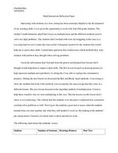 Writing A Math Paper Math Interaction Reflection Paper