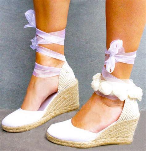 Hochzeitsschuhe Mit Keilabsatz by Hochzeitssuite Keil Lace Up Espadrille Boho Style