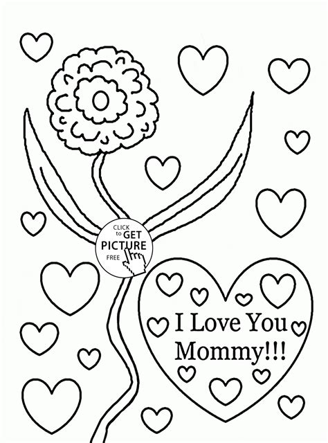 mothers day pictures to color i you s day coloring page for