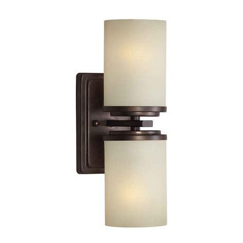 home depot bathroom lighting bronze filament design liam 2 light antique bronze sconce with