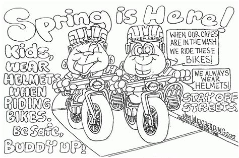 Bicycle Safety Coloring Page Coloring Home Bike Safety Coloring Pages