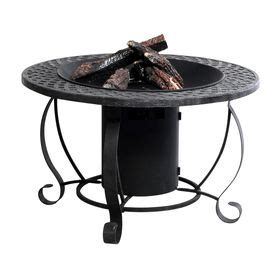 Black Propane Pit Garden Treasures 20000 Btu 29 92 In Charcoal Finish Steel