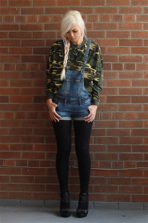 dollhouse overalls denim overalls dollhouse shorts cotton camo