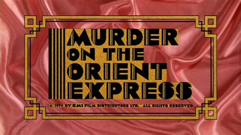 Murder Orient Express 1974 Film The Movie Title Stills Collection Updates