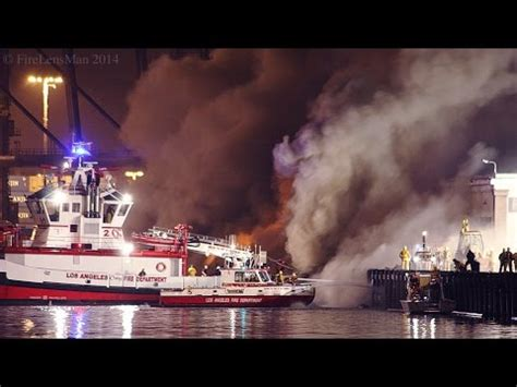 fire boat san pedro lafd wharf fire san pedro fire boats in action part 1