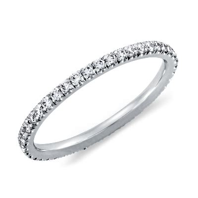 pav 233 eternity ring in platinum 3 8 ct tw