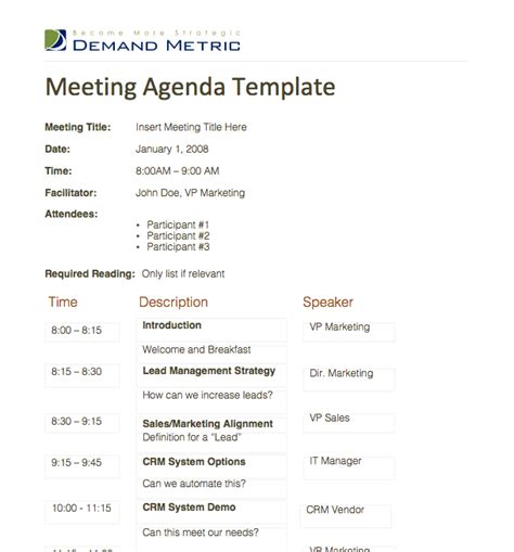 exle of agenda for meeting meeting agenda template a template to organize meeting