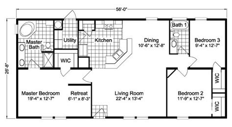 house floor plan with dimensions home exterior design 13 best images about mobile home plans on pinterest