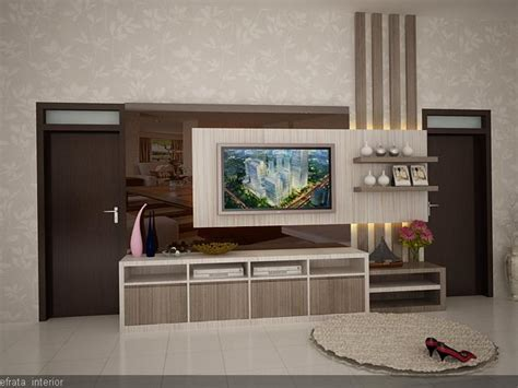 design backdrop tv lobby skin care clinic efrata desain kontraktor