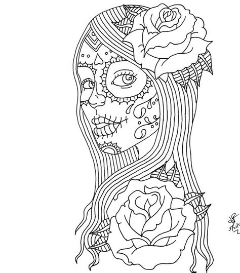 coloring pages for adults males 315 best skull day of the dead coloring images on
