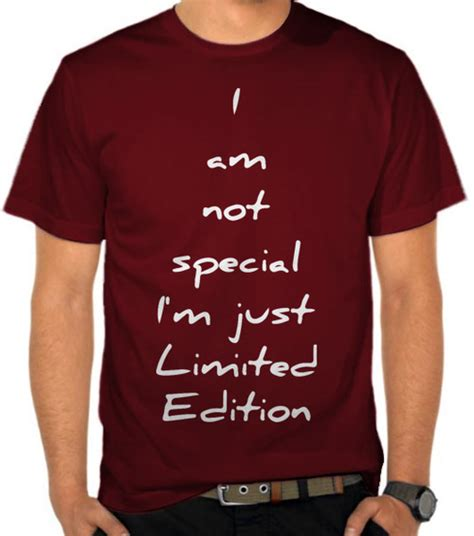 Kaos Distro Limited Edition jual kaos i am not special i m just limited edition 2