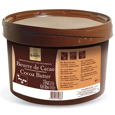 Cocoa Butter Shelf by Deodorized Cocoa Butter Cacao Barry