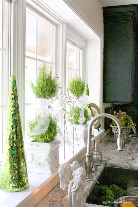 kitchen window sill decorating ideas home tour sonya orlick bright bold and