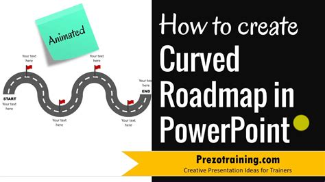 make a roadmap how to create curved roadmap in powerpoint animated