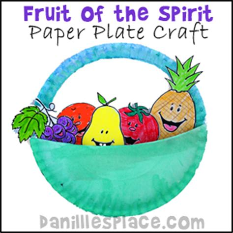 Paper Plate Crafts For Sunday School - fruit of the spirit paper plate bible craft for children s