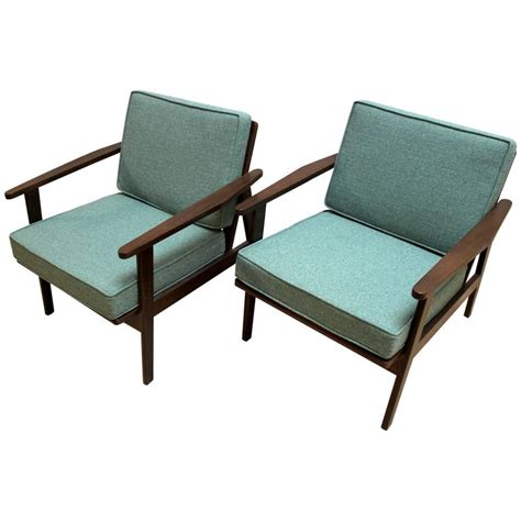 Japanese Seating Furniture by Pair Of 1950s Japanese Mid Century Modern Upholstered