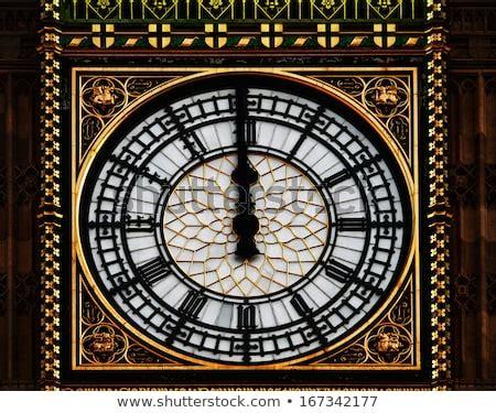 big ben clock tower midnight twelve london stock photo