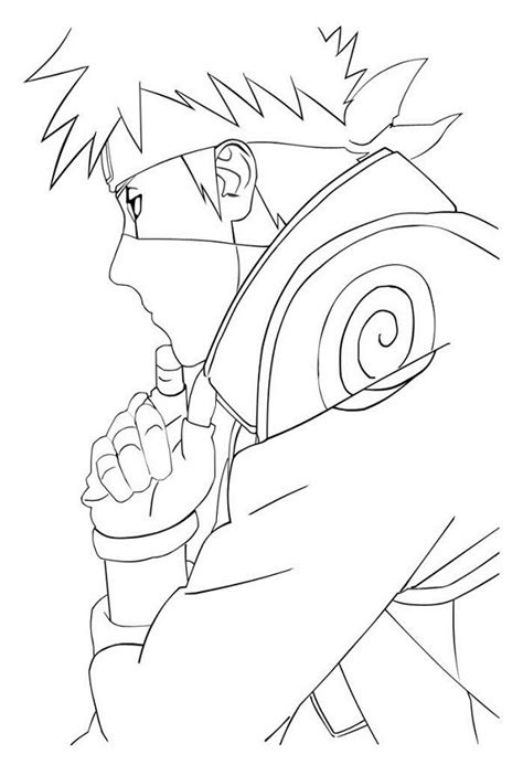naruto coloring pages kakashi free coloring pages of kakashi and