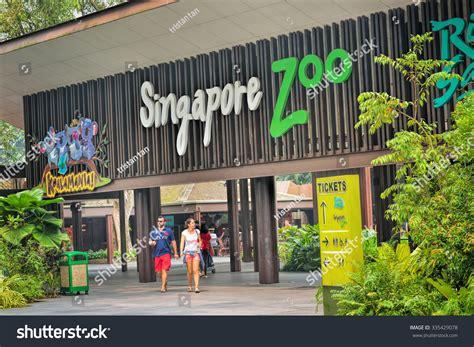 singapore zoo new year 2015 singapore october 23 2015 entrance singapore stock photo