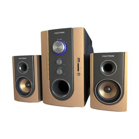 Speaker Multimedia Polytron Jual Polytron Pma 9300 Multimedia Audio Speaker Wireless Portabel Gold Harga