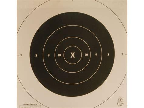 printable pistol 10 yard targets nra official pistol targets repair center b 6c 50 yard
