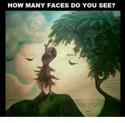 How many faces do you see meme on me me
