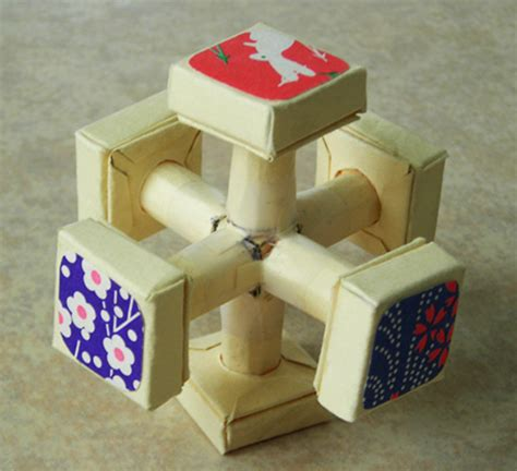Origami Rubiks Cube - jie qi sculpture crafts
