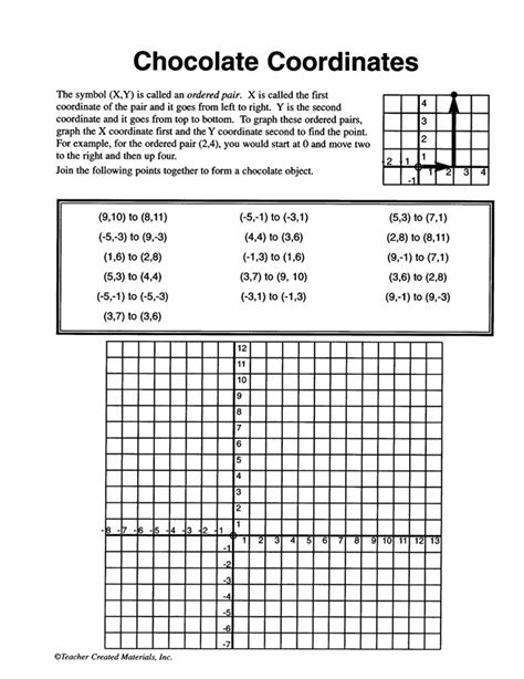 Free Printable Coordinate Graphing Pictures Worksheets