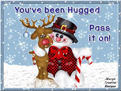 hugged christmascard gif hugged christmascard discover share gifs