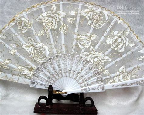 Handmade Fans For Weddings - battenburg lace fan flower handmade fans
