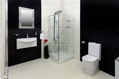 Bathroom Tiles Black And White Decosee Com Black And White Modern Bathroom