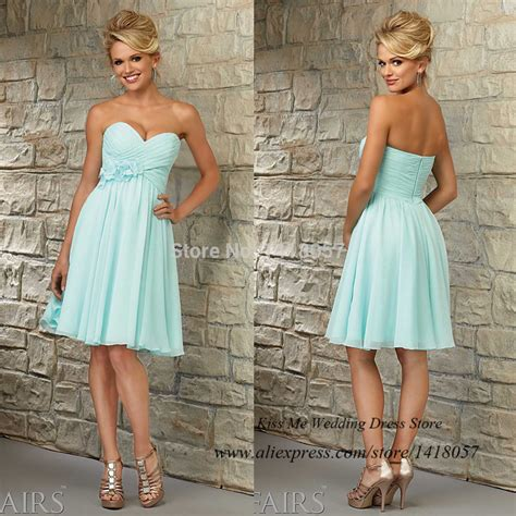Vestido de Dama de Honra Short Mint Green Bridesmaid
