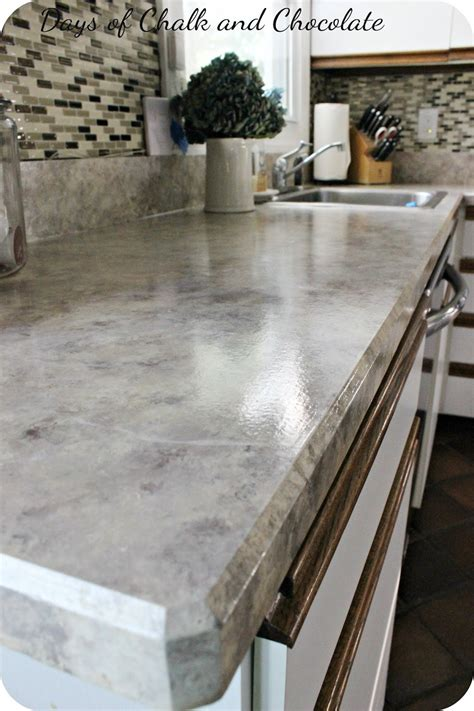 How To Paint Linoleum Countertops by Painted Faux Countertops Days Of Chalk And Chocolate