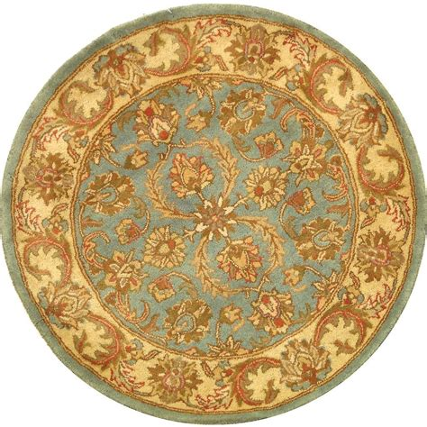 Safavieh Vintage Warm Beige 8 Ft X 8 Ft Round Area Rug 8 Foot Area Rugs