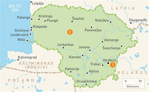 map of lithuania map of lithuania lithuania regions guides