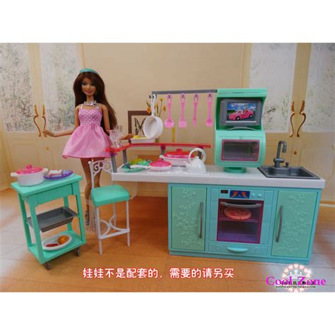 my life doll house miniature furniture my fancy life cooking corner for barbie doll house toys for girl