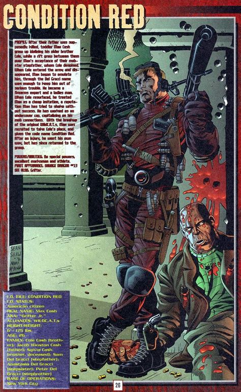condition red maxwell cash wildstorm universe dc comics database