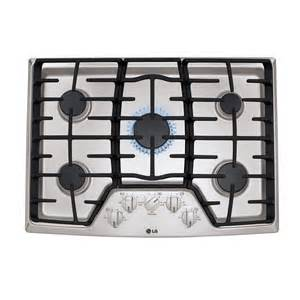 Stainless Steel Gas Cooktop Shop Lg 5 Burner Gas Cooktop Stainless Steel Common 30