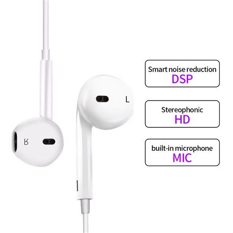 Earphone Usb Type C With Mic For Letv Smartphone earphone usb type c with mic for letv smartphone white