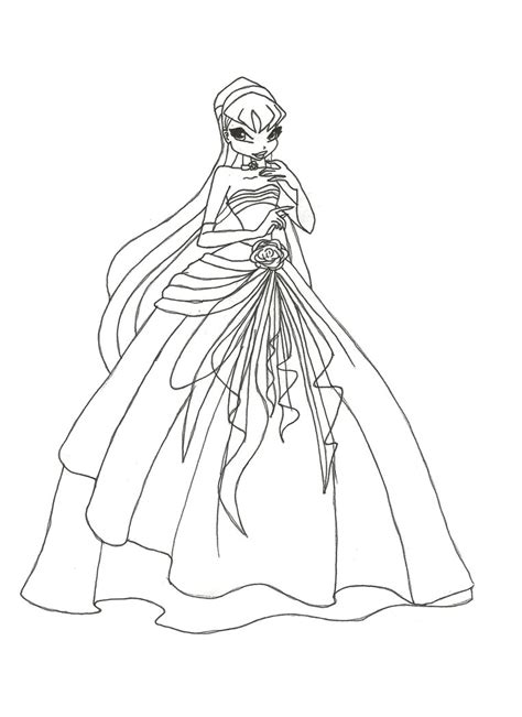 coloring book reaction winx club gown stella coloring page by winxmagic237