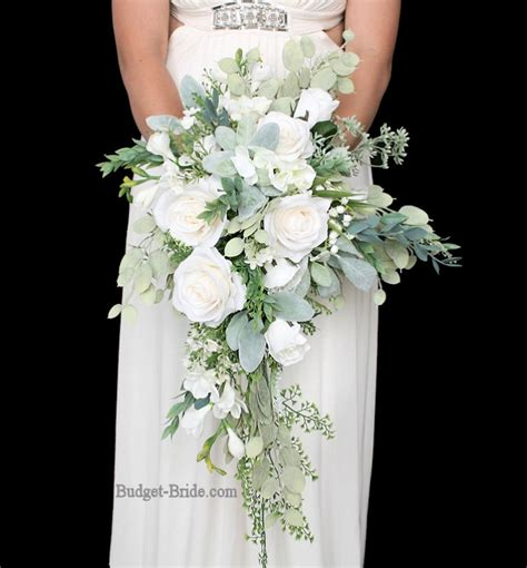 Wedding Bouquet Foliage by All White Wedding Flower Bouquet With Lots Of Greenery