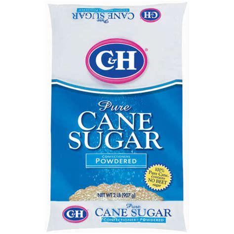 c h pure cane powdered confectioners sugar 2 lb walmart com