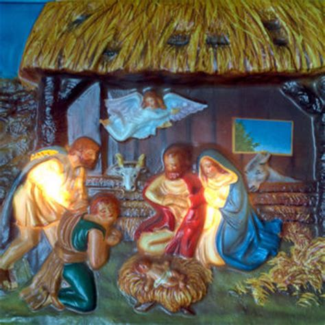 outside light up nativity vintage lighted nativity set picture 3d from kikiscollections