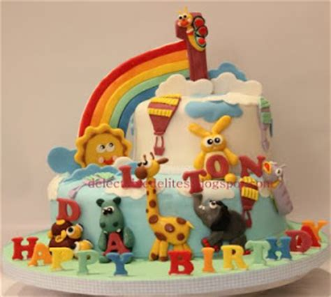 Cake Toppers Tema My Baby Tusukan Kue Ultah Baby delectable delites baby tv theme cake for dalton s 1st