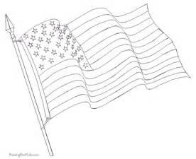 waving american flag coloring page printable kids