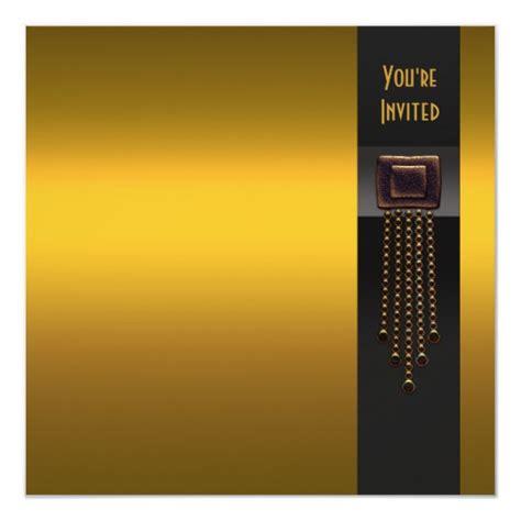 Black Gold Art Deco Party Invitation Template Zazzle Com Gold Birthday Invitation Template